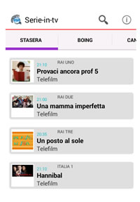 App android Serie in Tv